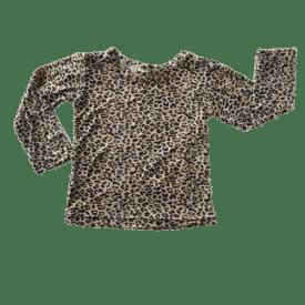 Leopard Pattern Long Sleeve Basic Top
