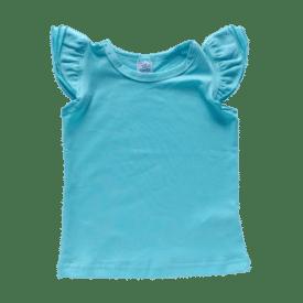 Light Blue Sleeveless Flutter Top