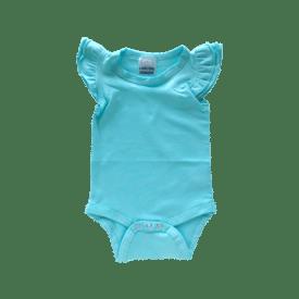 Light Blue Basic Sleeveless Fluttersuit / Onesie