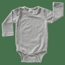 Light Frosted Grey Long Sleeve Basic Bodysuit / Onesie