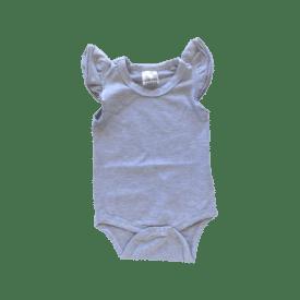 Light Frosted Grey Basic Sleeveless Fluttersuit / Onesie