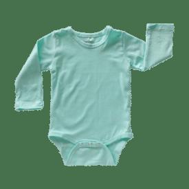 Mint Long Sleeve Basic Bodysuit / Onesie