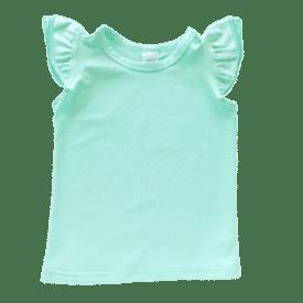 Mint Sleeveless Flutter Top