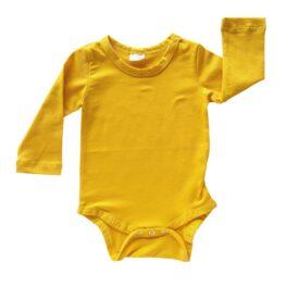 mustard long sleeve bodysuit