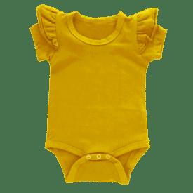 Mustard Short Sleeve Fluttersuit1