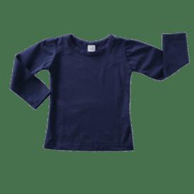 Navy Blue Long Sleeve Basic Top