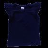 Navy Blue Sleeveless Flutter Top