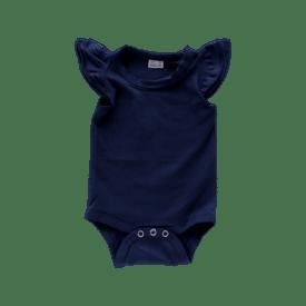 Navy Blue Basic Sleeveless Fluttersuit / Onesie