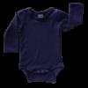 Navy Blue Long Sleeve Basic Bodysuit / Onesie