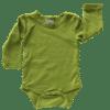 Olive Green Long Sleeve Basic Bodysuit / Onesie