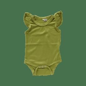 Olive Green Basic Sleeveless Fluttersuit / Onesie