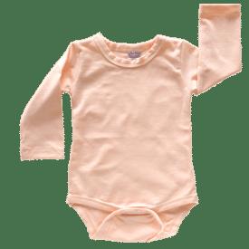 Peach long sleeve bodysuit