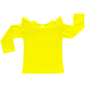 Pineapple Yellow Long Sleeve-Winter Fluttertop