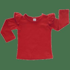 Red long sleeve fluttertop