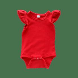 Red Basiic Sleeveless Fluttersuit / Onesie