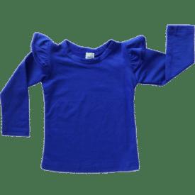 Royal Blue Long Sleeve Fluttertop