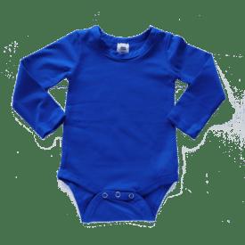 Royal Blue Long Sleeve Basic Bodysuit / Onesie