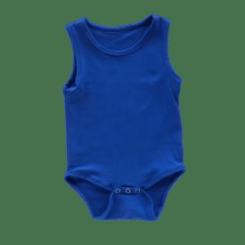 Royal Blue Sleeveless Bodysuit / Onesie