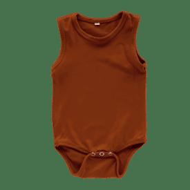 Ssaddle Brown Sleeveless Bodysuit