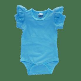 Sky Blue Short Sleeve Fluttersuit