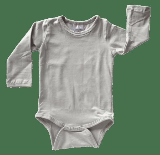 Soft Grey Long Sleeve Basic Bodysuit / Onesie