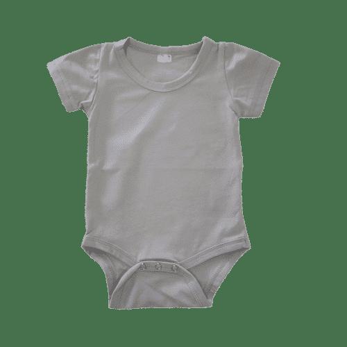 Soft Grey Short Sleeve Basic Bodysuit