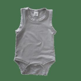 Soft Grey Sleeveless Basic Bodysuit / Onesie