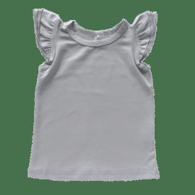 Soft Grey Sleeveless Flutter Top