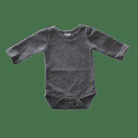 Stormy Grey Long Sleeve Basic Bodysuit / Onesie