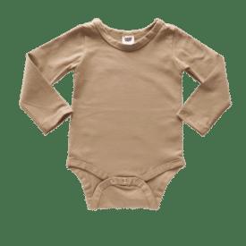 Tan Long Sleeve Basic Bodysuit / Onesie