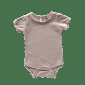 Tan Short Sleeve Basic Bodysuit