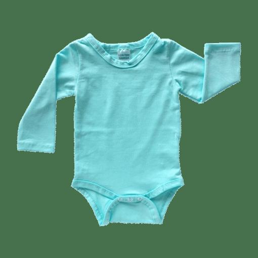 Tiffany Blue Long Sleeve Basic Bodysuit / Onesie