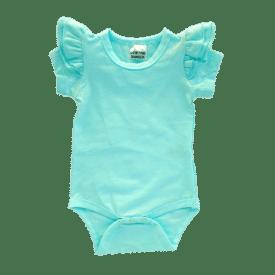 Tiffany Blue Short Sleeve Fluttersuit