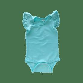 Tiffany Blue Basiic Sleeveless Fluttersuit / Onesie