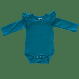 turquoise-Long Sleeve fluttesuit
