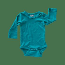 Turquoise Long Sleeve Basic Bodysuit / Onesie