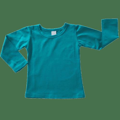 Turquoise Long Sleeve Basic Top