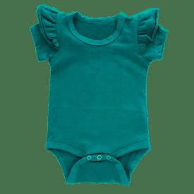 Turquoise Short Sleeve Fluttersuit