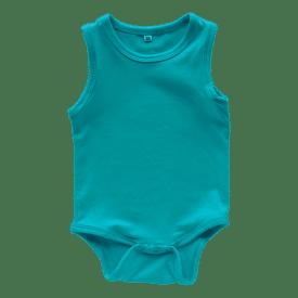 turquoise-sleeveless-onesie-bodysuit