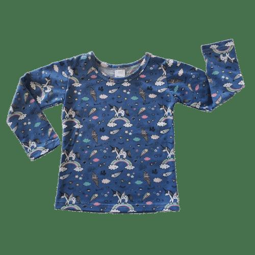 Unicorn Pattern Long Sleeve Basic Top
