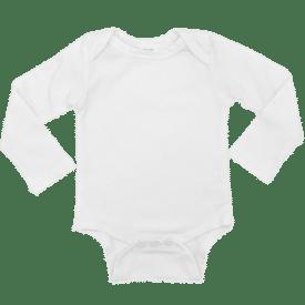 White Long Sleeve Envelope Bodysuit