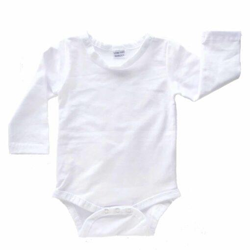 White Long Sleeve Basic Bodysuit / Onesie