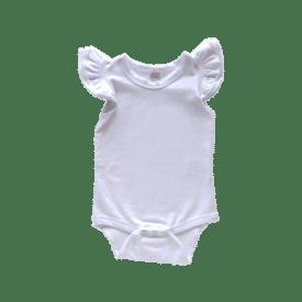 White Basiic Sleeveless Fluttersuit / Onesie