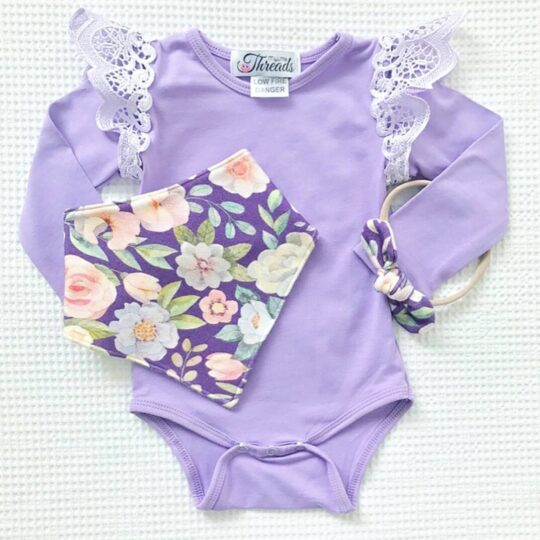 @allabouteverly long sleeve lavender and light purple pixie wingsuit