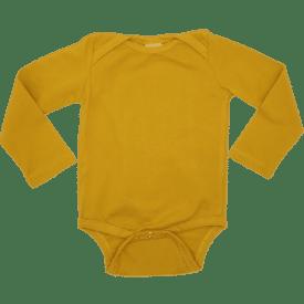 Mustard Long Sleeve Envelope Bodysuit1