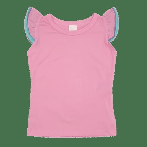 Triflutter Top Bubblegum Pink