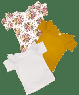 Short Sleeve Flutter Tops