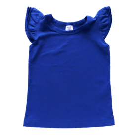Royal Blue Sleeveless FluttersTop