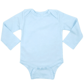 Baby Blue Long Sleeve Envelope Bodysuit