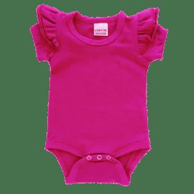Dark Pink short sleeve Fluttersuit